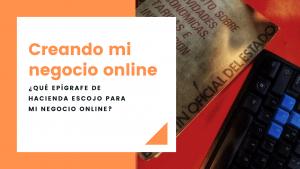 ¿Qué epígrafe de Hacienda escoger para mi negocio online?